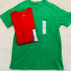 ART CLASS GIRLS TEES SET OF 2 GREEN/RED